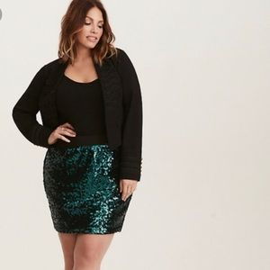 Torrid Sequin Mini Skirt